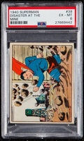 """Non-Sport Cards:Singles (Pre-1950), 1940 Superman """"Disaster At The Mine"""" #39 PSA EX-MT 6. ..."""