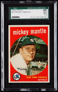 Baseball Cards:Singles (1950-1959), 1959 Topps Mickey Mantle #10 SGC 86 NM+ 7.5....