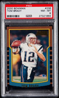 Football Cards:Singles (1970-Now), 2000 Bowman Tom Brady #236 PSA NM-MT 8....