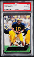 Football Cards:Singles (1970-Now), 2000 Press Pass Tom Brady #37 PSA Gem Mint 10....