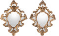 Decorative Arts, Continental:Other , A Pair of Venetian Carved Giltwood Mirrors, 19th century. 36-1/2inches high x 27-1/2 inches wide (92.7 x 69.9 cm). ... (Total: 2Items)