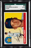 Autographs:Bats, 1955 Topps Harmon Killebrew #124 SGC 80 EX/NM 6....