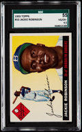 Baseball Cards:Singles (1950-1959), 1955 Topps Jackie Robinson #50 SGC 55 VG/EX+ 4.5....