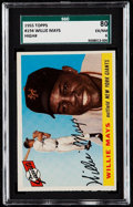 Baseball Cards:Singles (1950-1959), 1955 Topps Willie Mays #194 SGC 80 EX/NM 6....