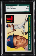 Baseball Cards:Singles (1950-1959), 1955 Topps Ted Williams #2 SGC 50 VG/EX 4....