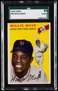 Baseball Cards:Singles (1950-1959), 1954 Topps Willie Mays #90 SGC 80 EX/NM 6....