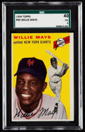 Baseball Cards:Singles (1950-1959), 1954 Topps Willie Mays #90 SGC 40 VG 3....