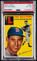 Baseball Cards:Singles (1950-1959), 1954 Topps Ted Williams #250 PSA VG-EX 4....