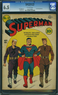 Superman #12 (DC, 1941) CGC FN+ 6.5 Off-white pages