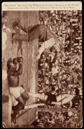 """Boxing Cards:General, C. 1915 Jack Johnson vs. Jess Willard """"The Count"""" Post Card. ..."""