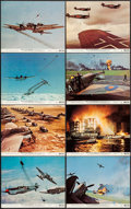 """Movie Posters:War, Battle of Britain (United Artists, 1969). Color Photo Set of 8 (8""""X 10""""). War.. ... (Total: 8 Items)"""