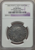 Early Half Dollars, 1806 50C Pointed 6, Stem, O-116, T-20, R.3, -- Improperly Cleaned-- NGC Details. XF. NGC Census: (4/14). PCGS Population: ...