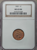 Indian Cents: , 1885 1C MS65 Red and Brown NGC. NGC Census: (83/22). PCGS Population: (99/11). CDN: $650 Whsle. Bid for problem-free NGC/PC...