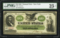 Large Size:Demand Notes, Fr. 6 $10 1861 Demand Note PMG Very Fine 25 Net.. ...