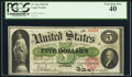 Large Size:Legal Tender Notes, Fr. 61a $5 1862 Legal Tender PCGS Extremely Fine 40.