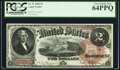 Large Size:Legal Tender Notes, Fr. 51 $2 1880 Legal Tender PCGS Very Choice New 64PPQ.