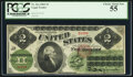 Large Size:Legal Tender Notes, Fr. 41a $2 1862 Legal Tender PCGS Choice About New 55....