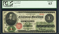 Large Size:Legal Tender Notes, Fr. 16 $1 1862 Legal Tender PCGS Choice New 63....