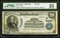 National Bank Notes:California, Claremont, CA - $20 1902 Plain Back Fr. 652 The First NB Ch. # (P)9467. ...
