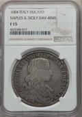 Italy: Naples & Sicily. Charles II of Spain Ducato 1684-IM//AG/A F15 NGC