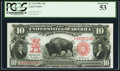 Large Size:Legal Tender Notes, Fr. 119 $10 1901 Legal Tender PCGS About New 53.. ...