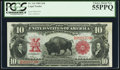 Large Size:Legal Tender Notes, Fr. 116 $10 1901 Legal Tender PCGS Choice About New 55PPQ.. ...