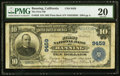 National Bank Notes:California, Banning, CA - $10 1902 Plain Back Fr. 626 The First NB Ch. # 9459. ...