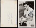 Autographs:Post Cards, 1958 Red Sox Team & Signed 1967 Tony Conigliaro Real Photo Post card Pair (2). ...