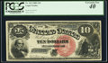 Large Size:Legal Tender Notes, Fr. 104 $10 1880 Legal Tender PCGS Extremely Fine 40.. ...