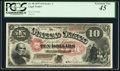 Large Size:Legal Tender Notes, Fr. 98 $10 1875 Legal Tender PCGS Extremely Fine 45.