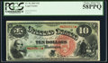 Large Size:Legal Tender Notes, Fr. 96 $10 1869 Legal Tender PCGS Choice About New 58PPQ.. ...