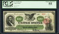 Large Size:Legal Tender Notes, Fr. 93 $10 1862 Legal Tender PCGS Choice About New 55.. ...