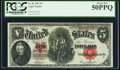 Large Size:Legal Tender Notes, Fr. 86 $5 1907 Legal Tender PCGS About New 50PPQ.. ...