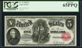 Large Size:Legal Tender Notes, Fr. 79 $5 1880 Legal Tender PCGS Gem New 65PPQ.. ...