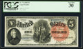 Large Size:Legal Tender Notes, Fr. 76 $5 1880 Legal Tender PCGS Very Fine 30....