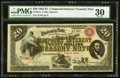 Large Size:Compound Interest Treasury Notes, Fr. 191a $20 1864 Compound Interest Treasury Note PMG Very Fine30.. ...