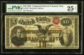 Large Size:Compound Interest Treasury Notes, Fr. 190 $10 1863 Compound Interest Treasury Note PMG Very Fine 25Net.. ...