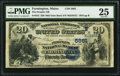 National Bank Notes:Maine, Farmington, ME - $20 1882 Date Back Fr. 555 The Peoples NB Ch. #(M)5861. ...