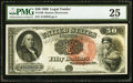 Large Size:Legal Tender Notes, Fr. 160 $50 1880 Legal Tender PMG Very Fine 25....