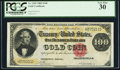 Large Size:Gold Certificates, Fr. 1209 $100 1882 Gold Certificate PCGS Very Fine 30.. ...