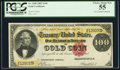 Large Size:Gold Certificates, Fr. 1208 $100 1882 Gold Certificate PCGS Choice About New 55.. ...