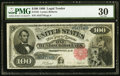 Large Size:Legal Tender Notes, Fr. 181 $100 1880 Legal Tender PMG Very Fine 30.. ...
