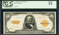Large Size:Gold Certificates, Fr. 1200a $50 1922 Mule Gold Certificate PCGS About New 53.. ...