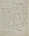 Autographs:Military Figures, Caleb Cushing Mexican War Dated Autograph Letter Signed Regarding a Land Deal. ...