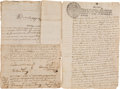 Autographs, Simon de Herrera Manuscript Document Signed Twice as Governor of Nuevo de Leon. ...