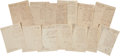 Autographs, Ramon Musquiz Letters (13) Written Political Chief of the Department of Texas....