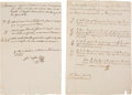 Miscellaneous, Two Colonial Mexico Horse and Cattle Brand Manuscript Broadsides.... (Total: 2 )