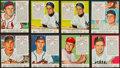 Baseball Cards:Lots, 1952 & 1953 Red Man (All With Tabs) Baseball Collection (44)....