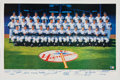 Autographs:Others, 1961 New York Yankees Reunion Team Signed Lithograph. . ...