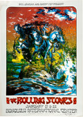 Music Memorabilia:Posters, Rolling Stones Honolulu International Center Concert Poster Signed By David Singer AOR-4.147 (Bill Graham and Barry Fey Presen...